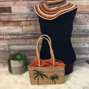 Tommy Bahama straw purse